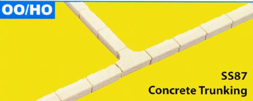 SS87 Wills OO Scale Concrete Cable Trunking